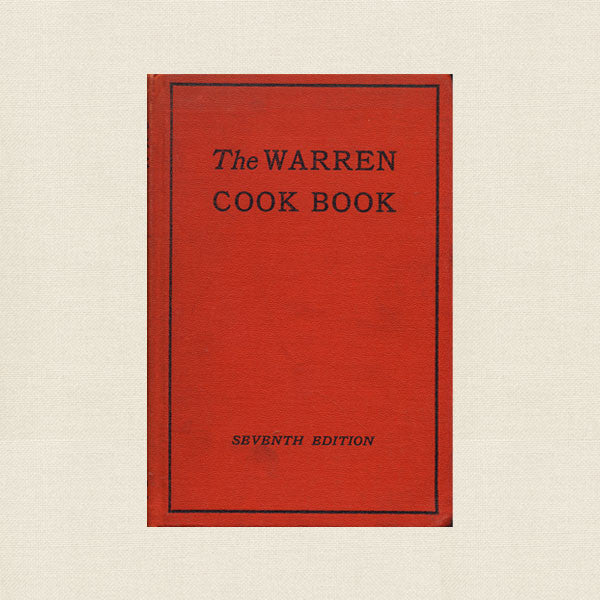 Warren Cook Book - Vintage First Presbyterian Church, PA