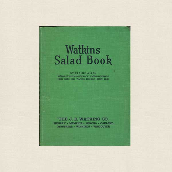 Watkins Salad Vintage Cookbook - 1946