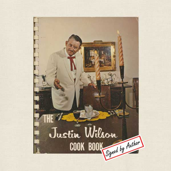 Justin Wilson Cookbook of Cajun Recipes - Signed