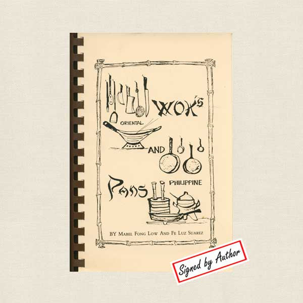 Woks and Pans Cookbook - Asian and Filipino SIGNED