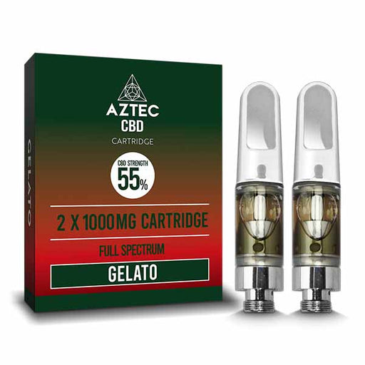 Aztec CBD Cartridge 55% CBD Full Spectrum 2-Pack 1000mg