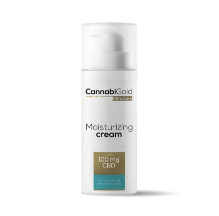 CannabiGold Ultra Care Moisturising Cream Dry and Sensitive Skin Prone to Atopy 50ml 100mg