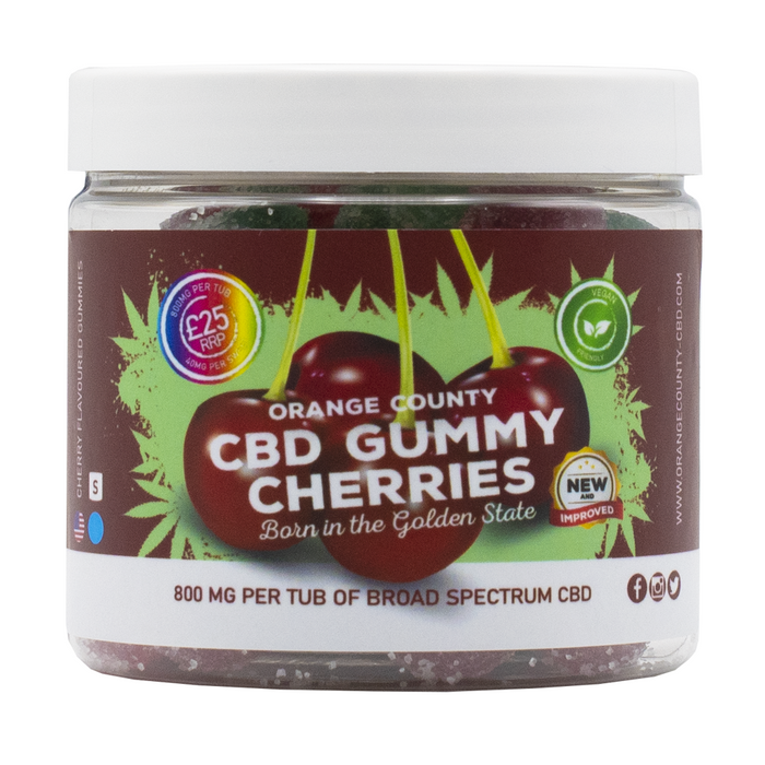 Orange County CBD Gummy Cherries