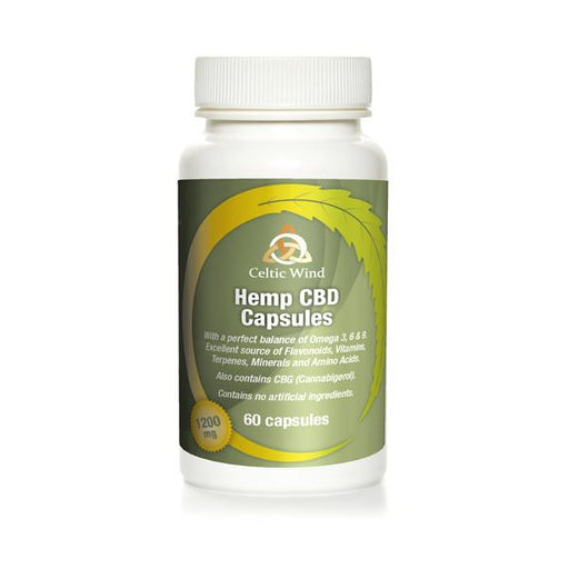 Celtic Wind Hemp CBD Capsules 1200mg 60 capsules
