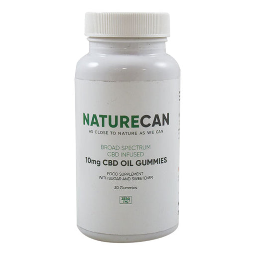 Naturecan Broad Spectrum 10mg CBD Oil Gummies With Sugar And Sweetener