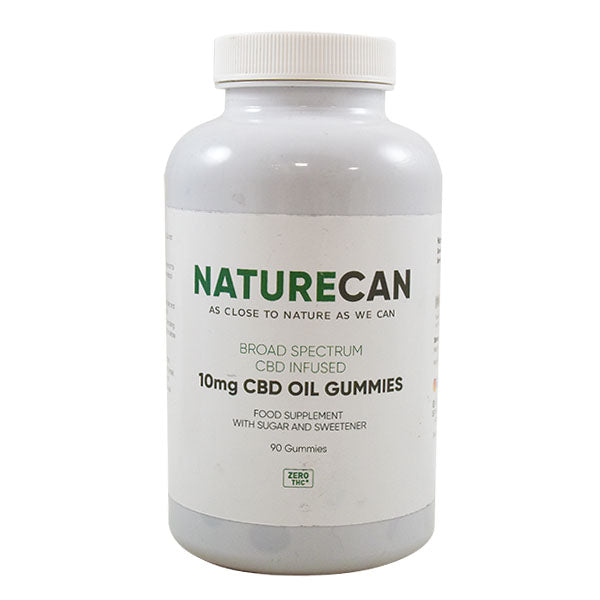 Naturecan Broad Spectrum 10mg CBD Fruit Gummy Drops With Sugar And Sweetener