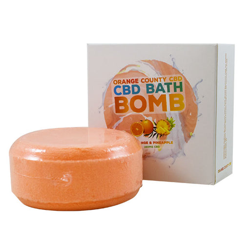 Orange County CBD Bath Bomb Orange & Pineapple 150mg