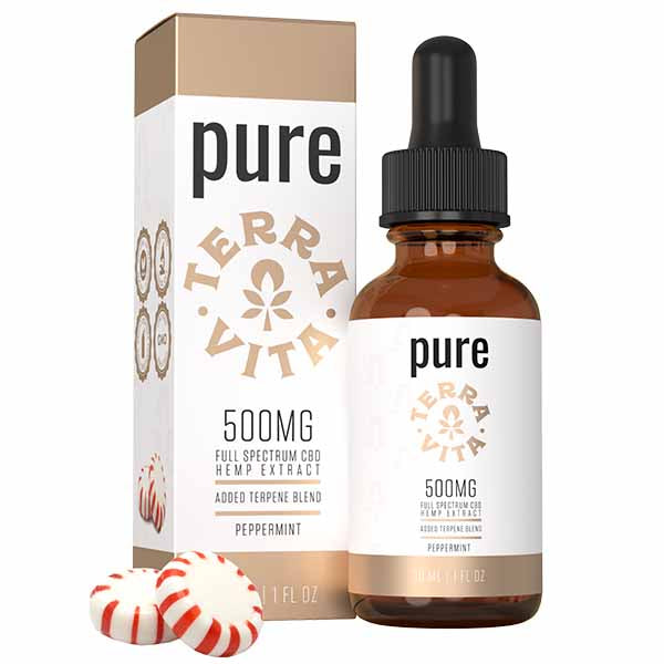 TerraVita Pure Full Spectrum CBD Hemp Extract Peppermint 30ml