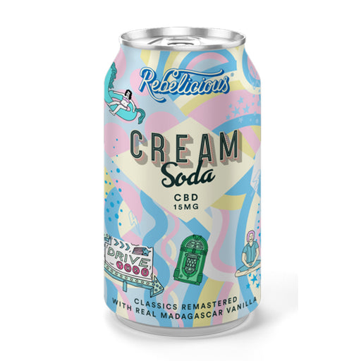 Rebelicious Drink Cream Soda 15mg 330ml