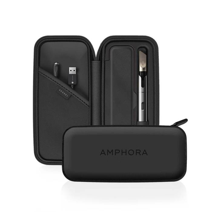 Amphora Vape Pen Protective Case Vegan Leather/Black
