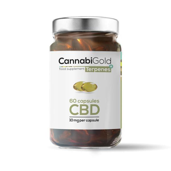 CannabiGold Food Supplement Terpenes 10mg per capsule