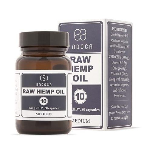 Endoca CBD Raw Hemp Oil Capsules