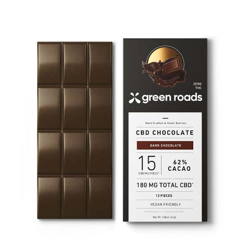 Green Roads CBD Chocolate 62% Cacao 180mg