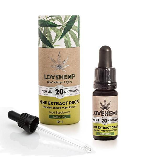 Love Hemp CBD Hemp Oil Natural 2000mg 20% 10ml