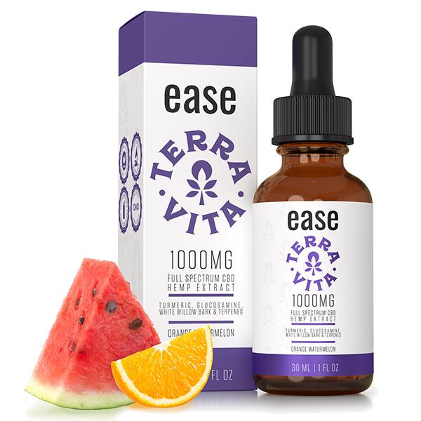TerraVita Ease Full Spectrum CBD Hemp Extract Orange Watermelon 30ml