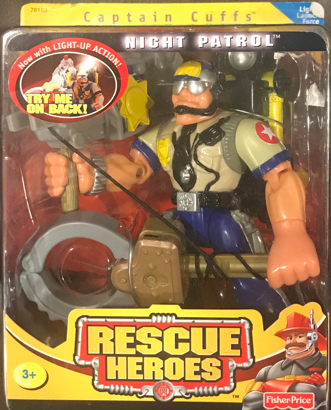 Fisher Price Rescue Heroes Captain Cuffs Night Patrol
