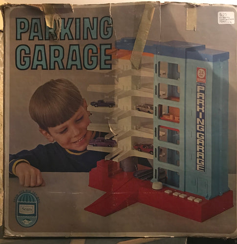 1970's Sears Parking Garage with box for hot wheels and matchbox Red Line***AVAILABLE IN STORE ONLY***