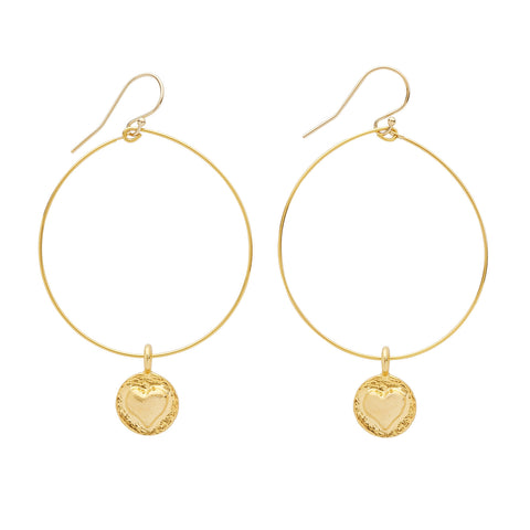LISTEN TO YOUR HEART EARRINGS- GOLD