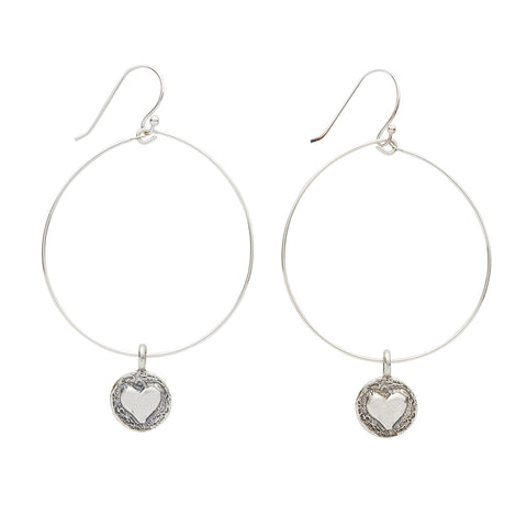 LISTEN TO YOUR HEART EARRINGS - SILVER