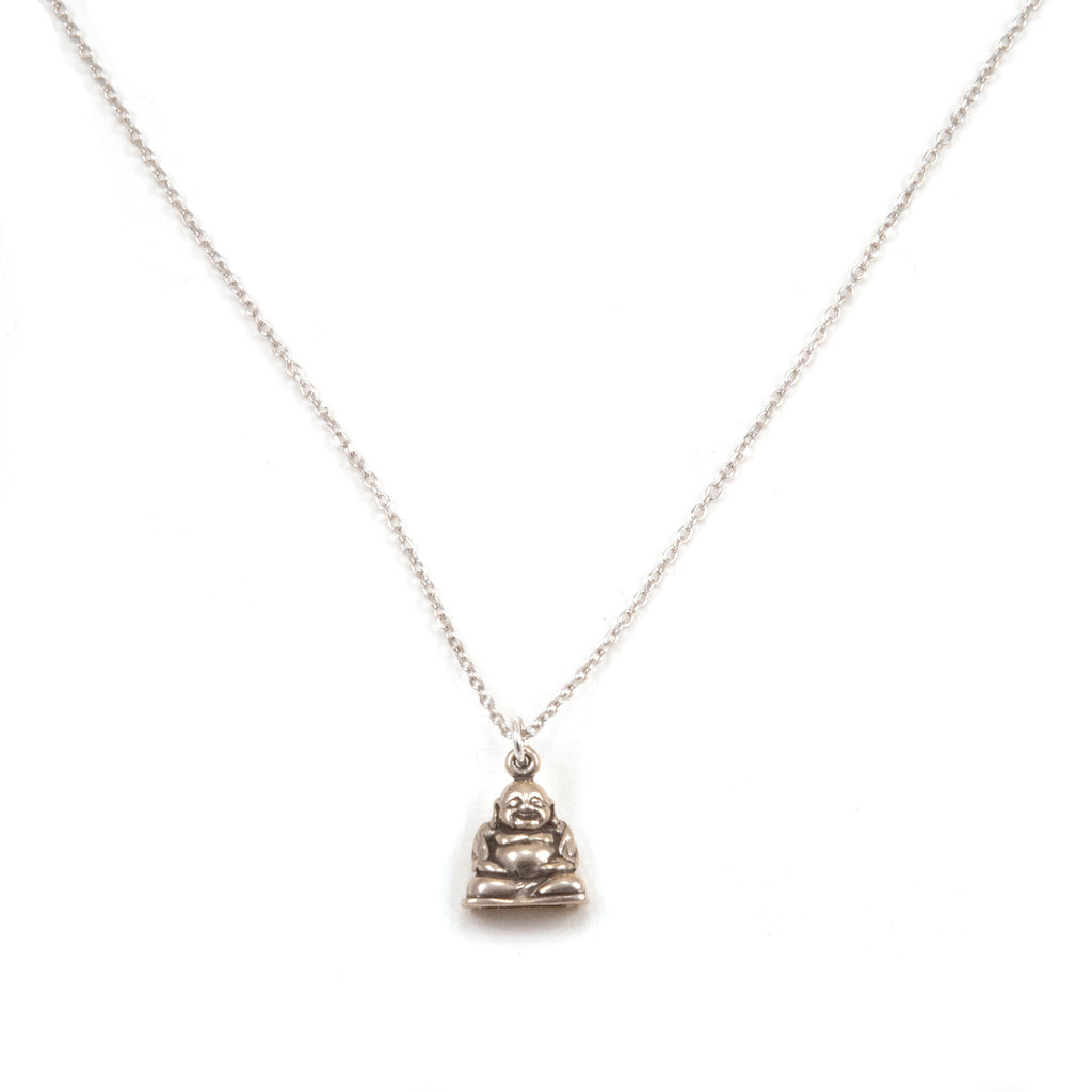 HAPPY IS & HAPPY DOES NECKLACE - SILVER
