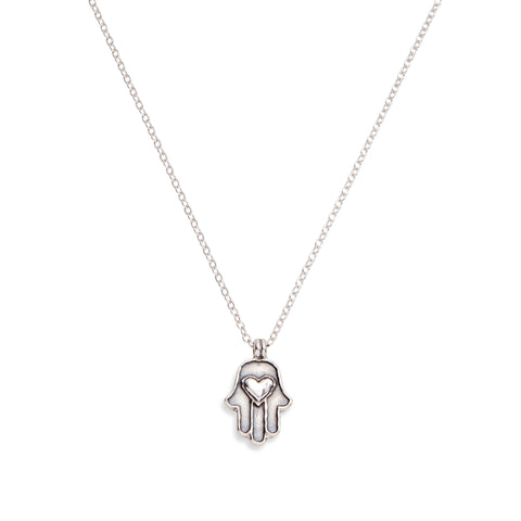 LOVE & PROTECT NECKLACE - SILVER