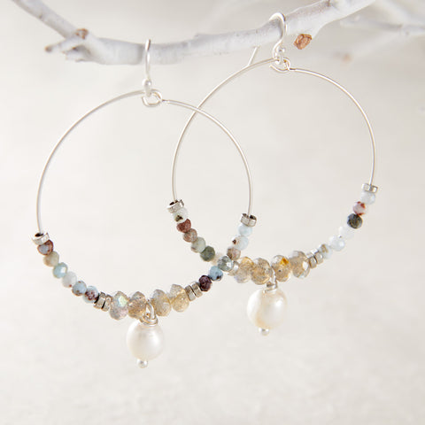 SERENITY HOOP EARRINGS