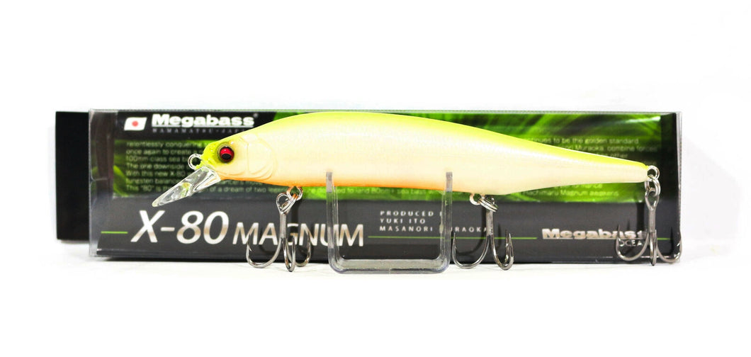 ISCA MEGABASS X-80 MAGNUM 115MM 18G SINKING COR PM CHART BACK