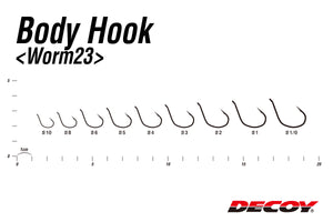 ANZOL DECOY BODY HOOK WORM 23