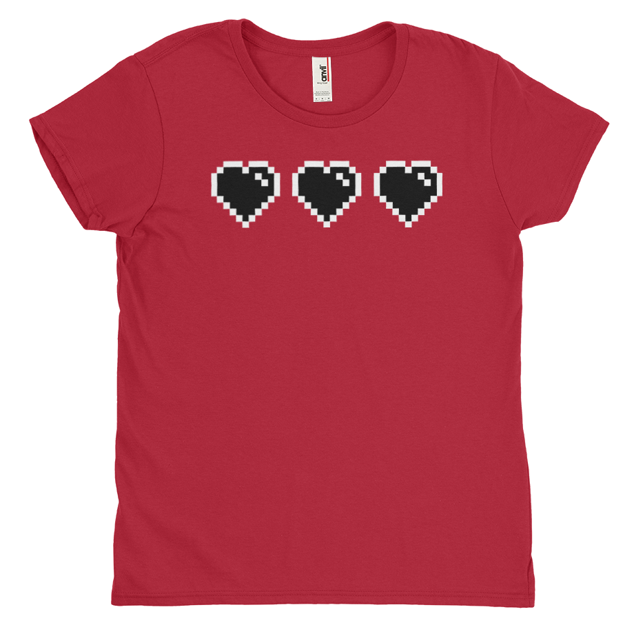 Black Heart Meter short sleeve shirt (Fitted/Womens)