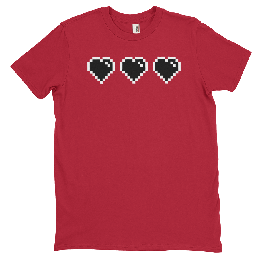 Black Heart Meter short sleeve shirt (Unisex/Mens)