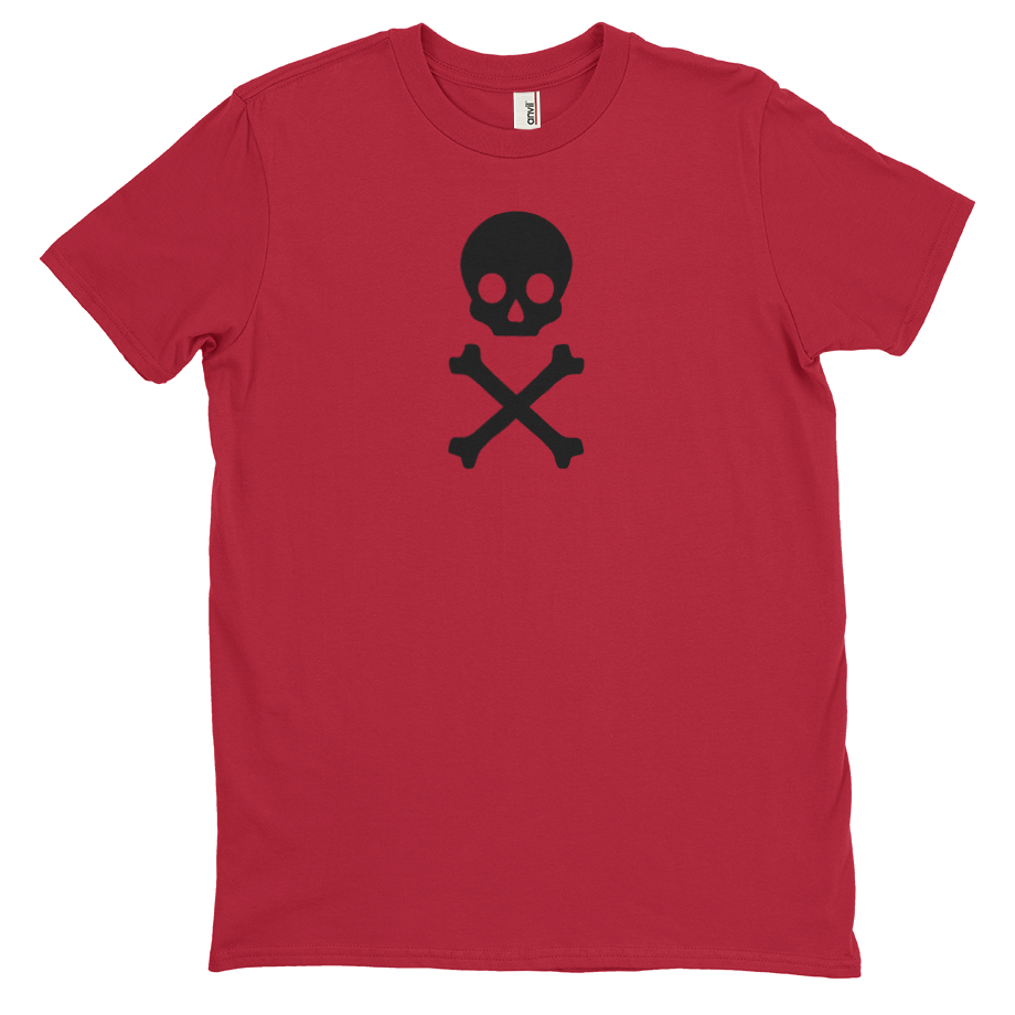 Skull and Bones short sleeve shirt (Unisex/Mens)