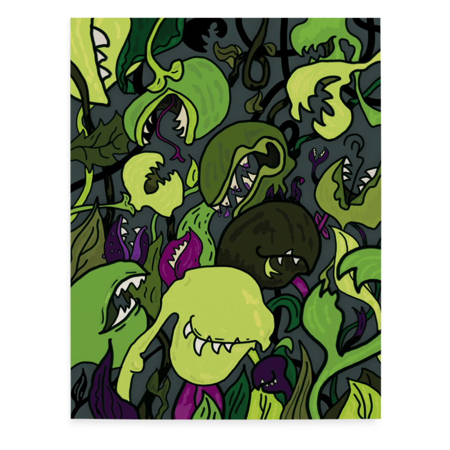 Carnivorous Plants greeting card