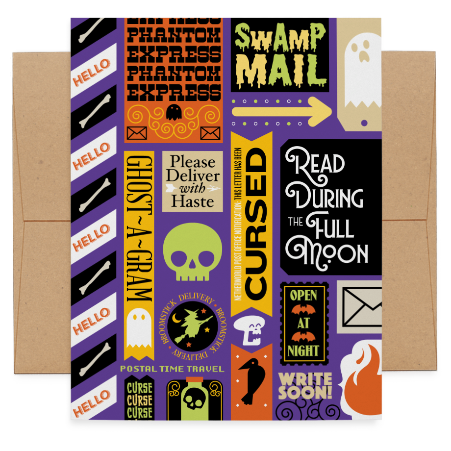 Ghost Mail greeting card