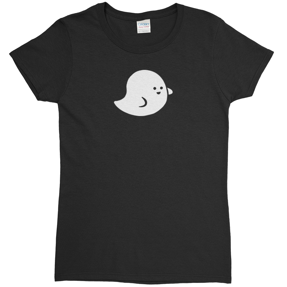 Marshmallow Ghost short sleeve shirt (Fitted/Womens)