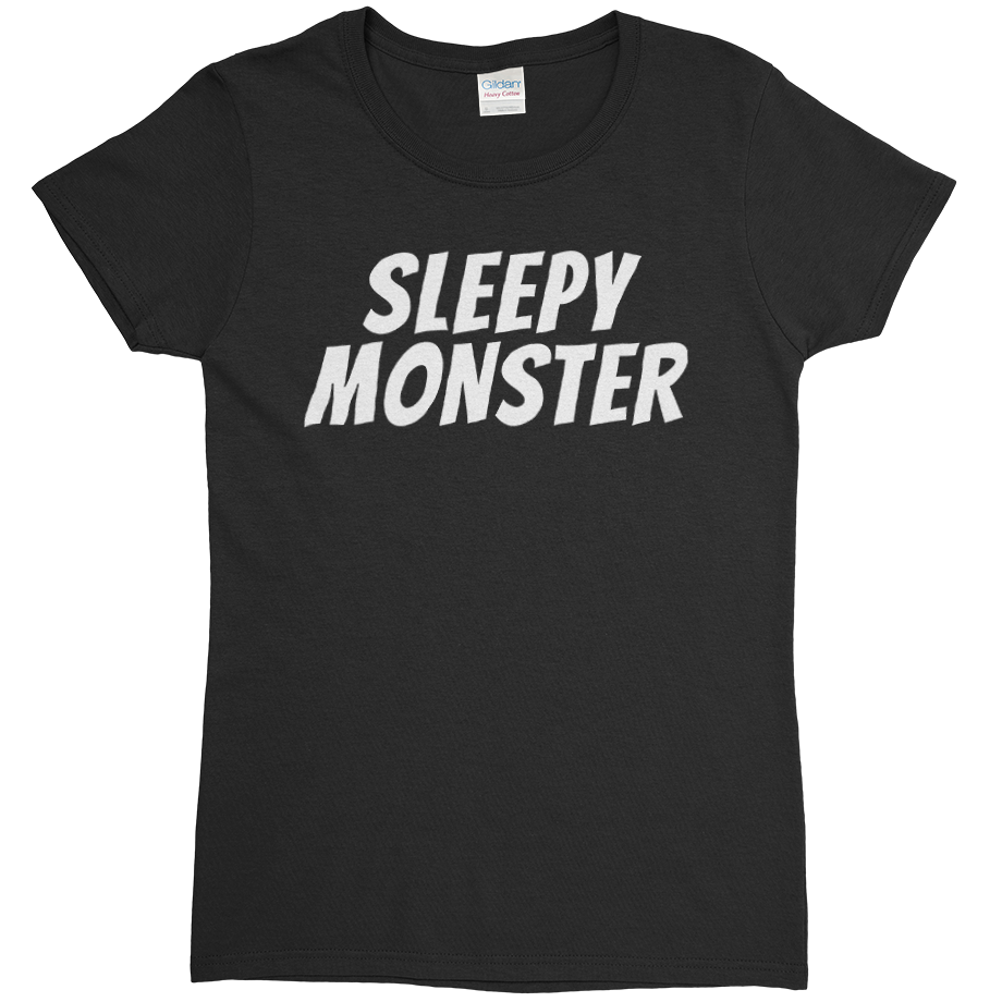 Sleepy Monster short sleeve shirt (Fitted/Womens)
