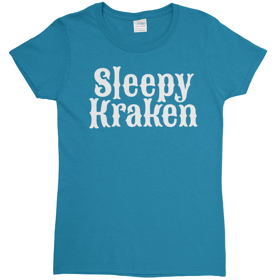 Sleepy Kraken short sleeve shirt (Fitted/Womens)