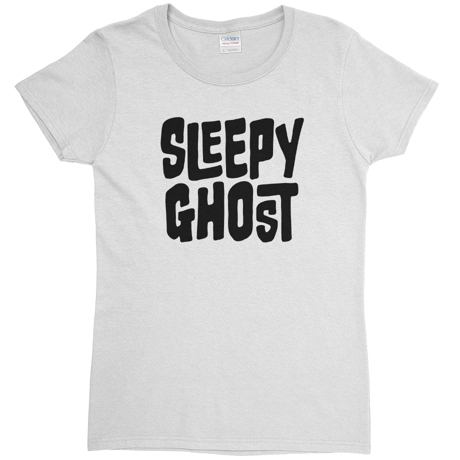 Sleepy Ghost short sleeve shirt (Fitted/Womens)