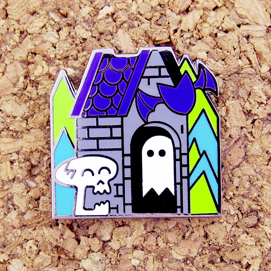 Happy Crypt enamel pin