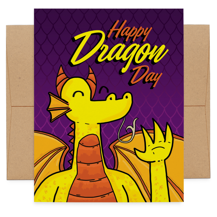 Happy Dragon Day greeting card