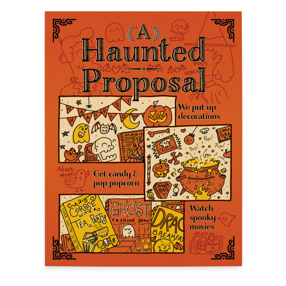 Haunted Proposal greeting card