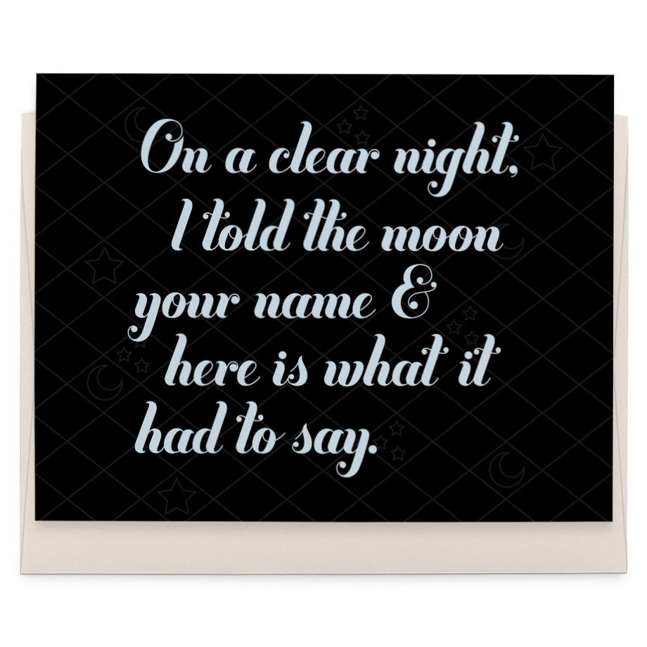 Things the Moon Had to Say greeting card