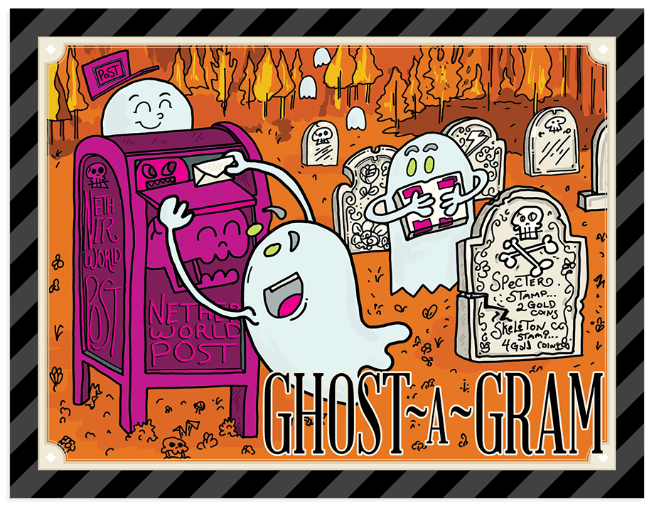 Ghost-a-Gram postcards (pack of 10)