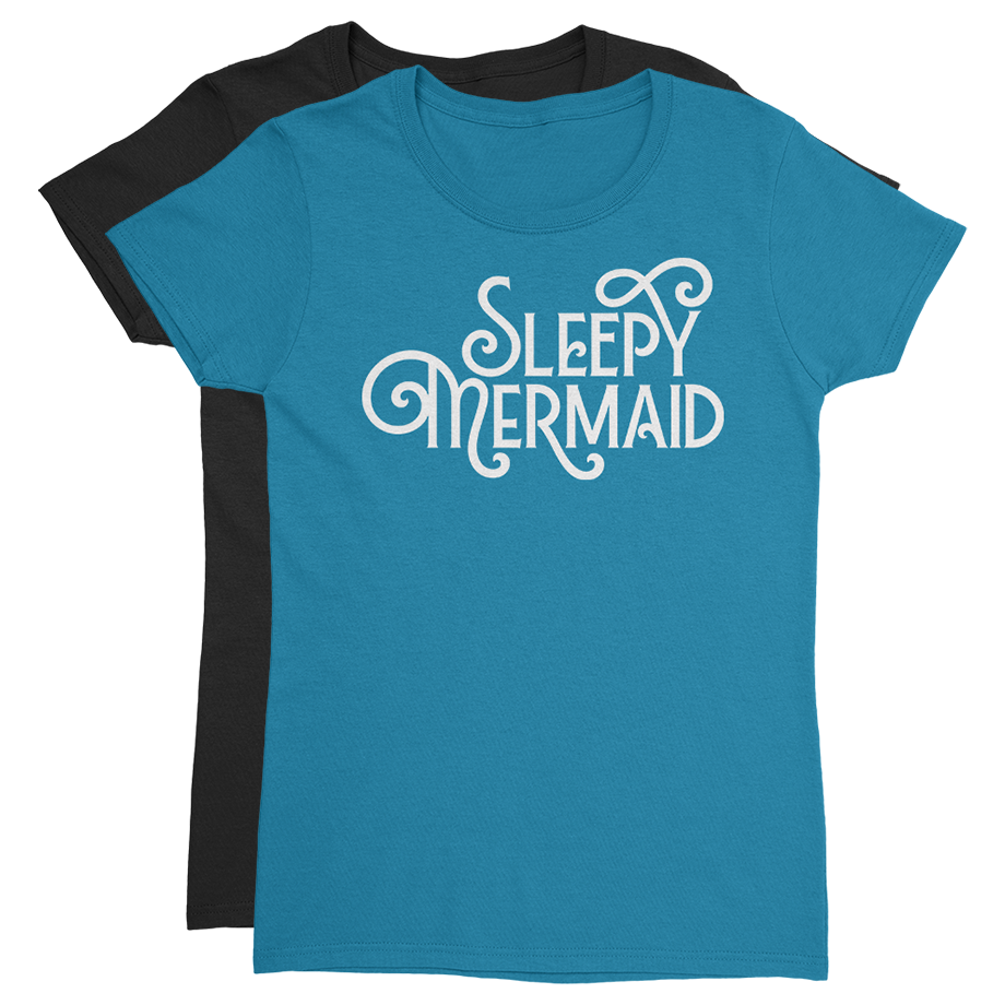 Sleepy Mermaid short sleeve shirt (Fitted/Womens)