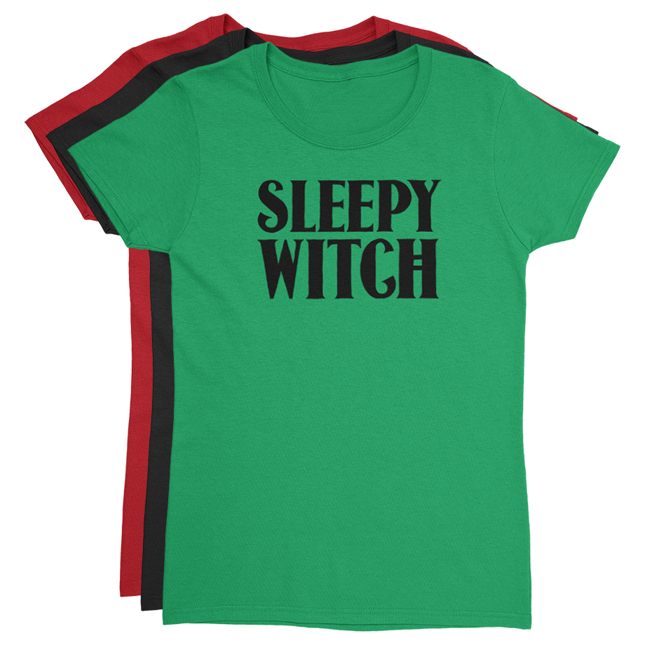 Sleepy Witch short sleeve shirt (Fitted/Womens)