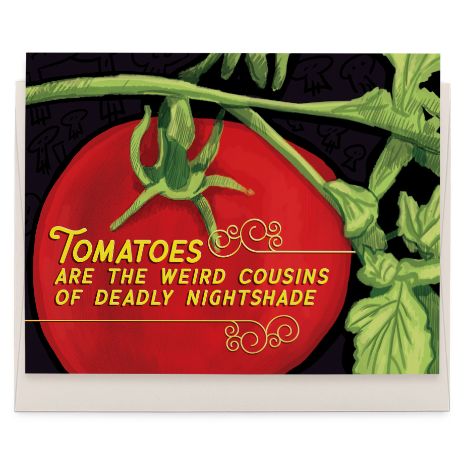Odd Tomatoes greeting card