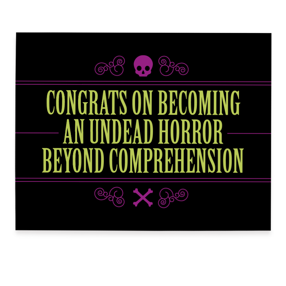 Undead Congrats greeting card