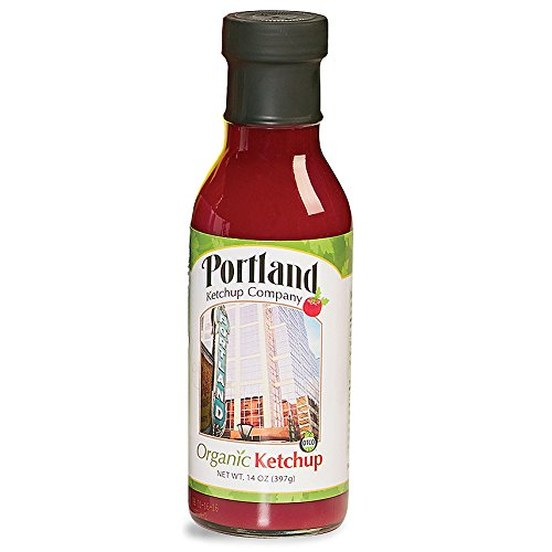 14 ounce bottle of locally made Portland Organic Ketchup.