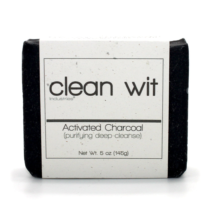 Charcoal infused bar of soap.