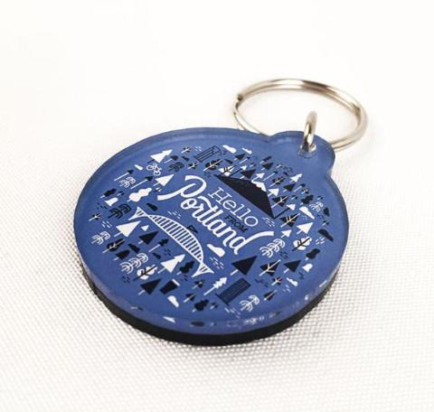 Hello Burst Keychain - Pacific Northfresh  - 3