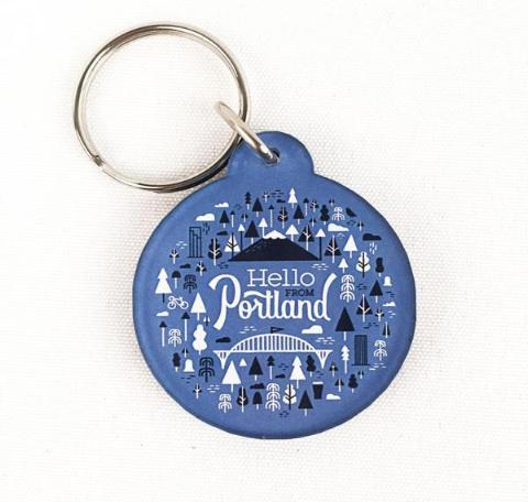 Hello Burst Keychain - Pacific Northfresh  - 2